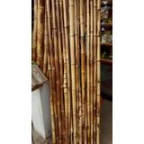 Caña Bambu Pintada Y Maceta Fibrocemento Decoración Isiflor