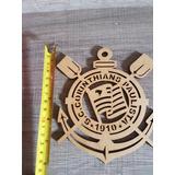 Super Emblema Em Mdf Seu Time Coração Corinthians Pronta Ent
