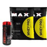 Kit Whey Protein Pro + Maca Peruana Testron - Max Titanium
