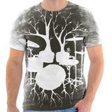 Camisa Camiseta Bateria Instrumento Músicas Frete Grátis