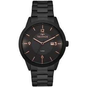 Relógio Technos Masculino Classic 2115moh/4p Preto Rose