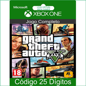 Gta 5 Grand Theft Auto 5 Xbox One Código 25 Dígito Microsoft