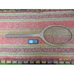 Antigua Raqueta De Tenis En Madera Diagonal Seijo