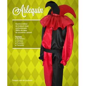 Disfraz Arlequin Rojo Y Negro