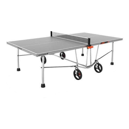 Mesa de ping pong Artengo FT 830 Outdoor gris