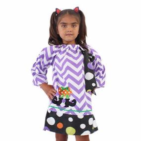 Vestido Fantas Conjunto Bebe Disfraz Halloween Envio Gratis
