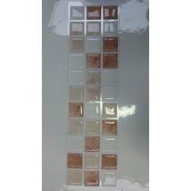 Faixas Pastilhas Adesivas Resinadas - Mármore Bege/branco