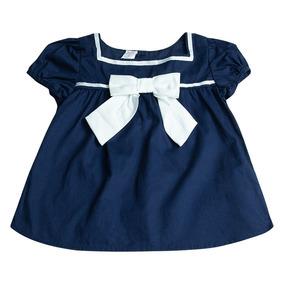 49b3f3da1 Vestido Marinero Con Lazo Dudu Para Bebés Niñas Talla 2-azul