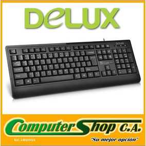Teclado Alambrico Usb 2.0 / Delux / K6010 / Negro