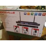 2microfonos De Diadema Rockville Con Receptor Rack Mountable