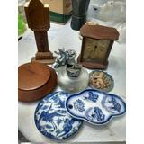 Lote 8 Articulos Varios Reloj Ceramicas Encendedor Solo Efct