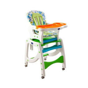 Silla De Comer 3 En 1 Verde. Color: Verde Kidscool