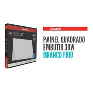 Painel Plafon Led Embutir 30w 40x40 Quadrado Branco Frio