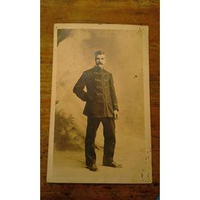 Fotografía De Soldado Militar Mexicano Época Principios 1900