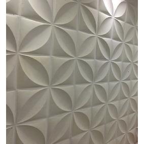 1 Forma De Plastico Com Borracha Eva P/ Gesso 3d; Flor 40x40