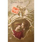 Antigua Fotopostal Romántica Circulada -1920- (150475)