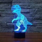 Dinosaurio 3d Noche Toque De Luz De Mesa Lámpara, Luces
