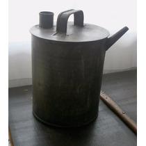 Aceitera, Antiguo Tarro Metal, Hojalata Gruesa. Buen Estado.