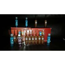 Ampolla Semi Di Lino Azul Y Rosada
