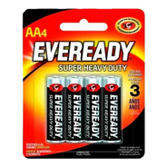 Pilas Aa Zinc Carbon Eveready Super Heavy Duty Blister X 4