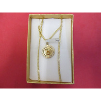 Cadenas Y Medallas Bautizo De Niño. Oro De 10 Kilates.