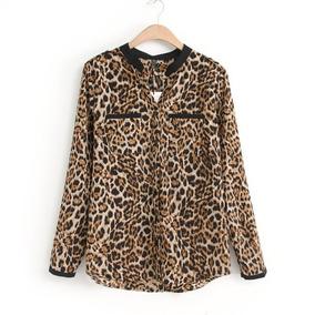 Camisa Animal Print Leopardo (por Encargue)