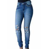 Calça Jeans Feminina Cintura Média Denuncia Skiny Promoção