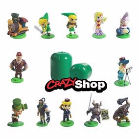 Bonecos Legend Of Zelda 12 Miniaturas Estilo Kinder Ovo