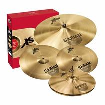 Kit De Pratos Sabian Xs20 14 /16 /20 /18 Free