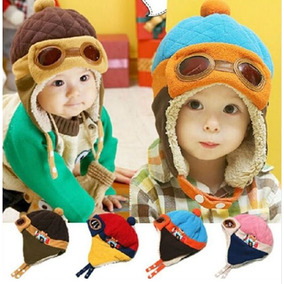 Gorros De Aviador Colores Bebes Niños Niñas Calientito