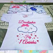 Kit 10 Camisetas Chuva De Amor Chuva De Benção Personalizada