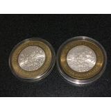 Par Monedas Bimetalicas 100 Pesos Don Quijote De La Mancha