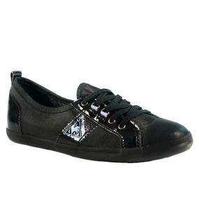 Zapatillas Le Coq Sportif Lorette Metal Mujer Negro