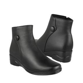 Furor Zapatos Dama Casuales De Cuña 30476 Simipiel Negro