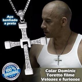 Dominic Toretto Colar Cruz Colar De Aço Banhado A Prata