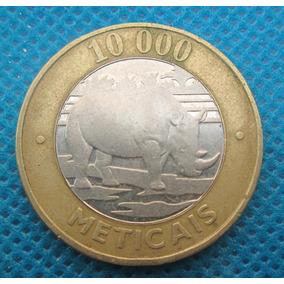 Moçambique 10000 Mil Meticais 2003 Bimetal Rinoceronte Fao