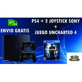 Ps4 Slim 500 Gb + 2 Joystick + Uncharted 4 + Envío Gratis