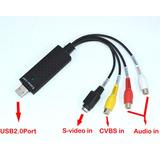Capturadora De Video/audio Usb Easycap, Conexión S-video/rca