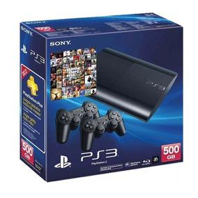 Ps3 500gb + 2 Joysticks + 140 Juegos Cargados