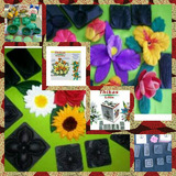 .30 Moldes Tikas.p/flores En Goma Eva Rosas Frizador