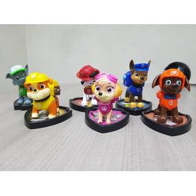 Paw Patrol / Patrulla Canina Set De 6 Figuras Con Luces !!