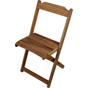 Cadeira Dobrável Madeira Maciça Sem Pintura