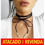 9 Chocker Wrap Colar Kim Kardashian Atacado Revenda Biju