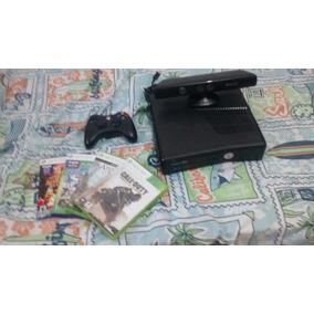 Xbox 360 Com Kinect-250gb Com 7 Jogos Em Midia Fisica
