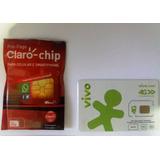 Chip Operadoras Vivo, Tim, Oi E Claro 4g, Normal Micro Nano