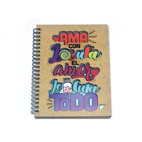 Libreta Amor En Mdf - Fabricarte - Regalos