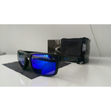 Holbrook Julian Wilson Black Matte Blue Iridium Polarized
