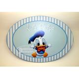 1 Placa Personalizada Pato Donald Mickey Baby Disney Menino