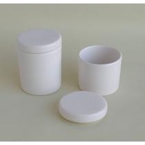 Ceramica Lisa Kit Higiene 2 Potes Bebê Porcelana