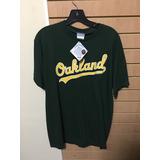 Franela Oficial De Los Atleticos De Oakland